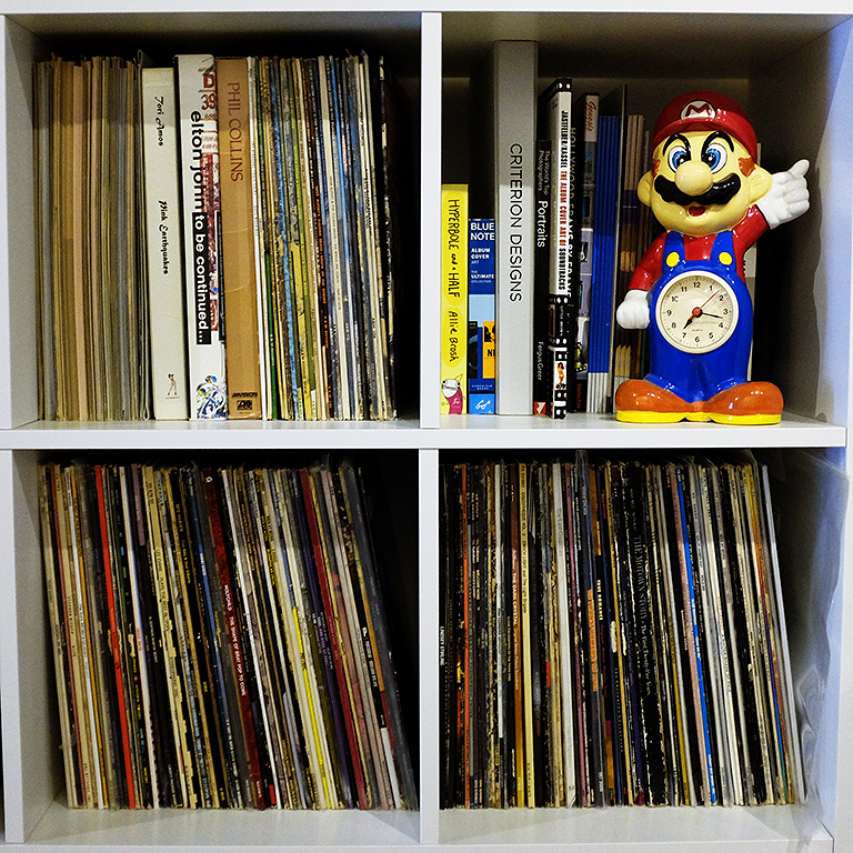 The current inventory of records at the studio.
