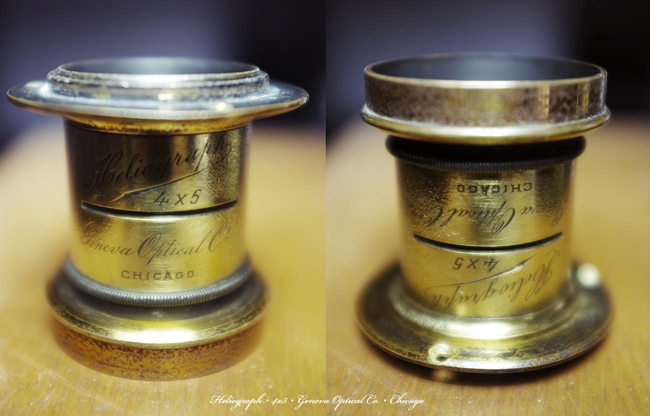 Heliograph 4x5 Brass Lens Geneva Optical Co. Chicago