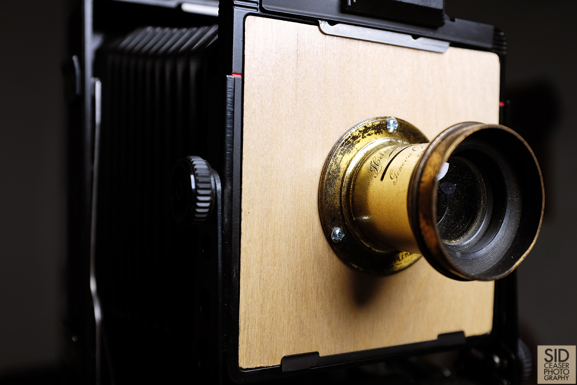 The lens, just after putting the final touches and mounting it to the board.