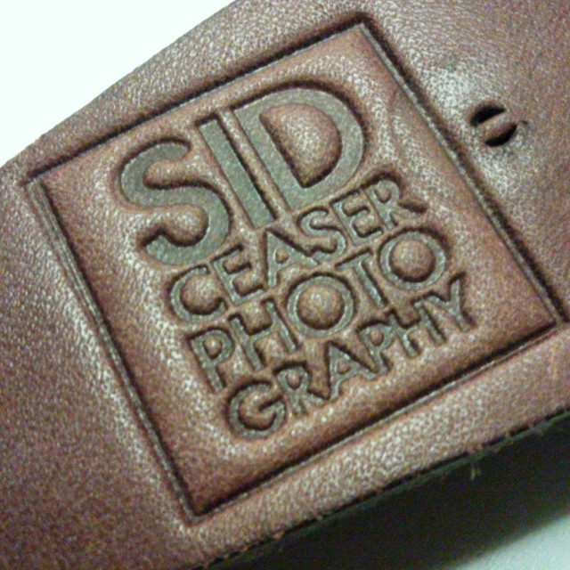 Testing the leather stamp on a piece of test leather by using a c-clamp and a hard surface.