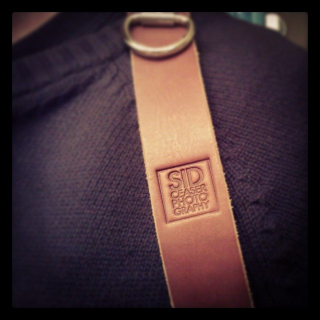 The final result: The HoldFast strap with my own personal stamp branding. Amazing!