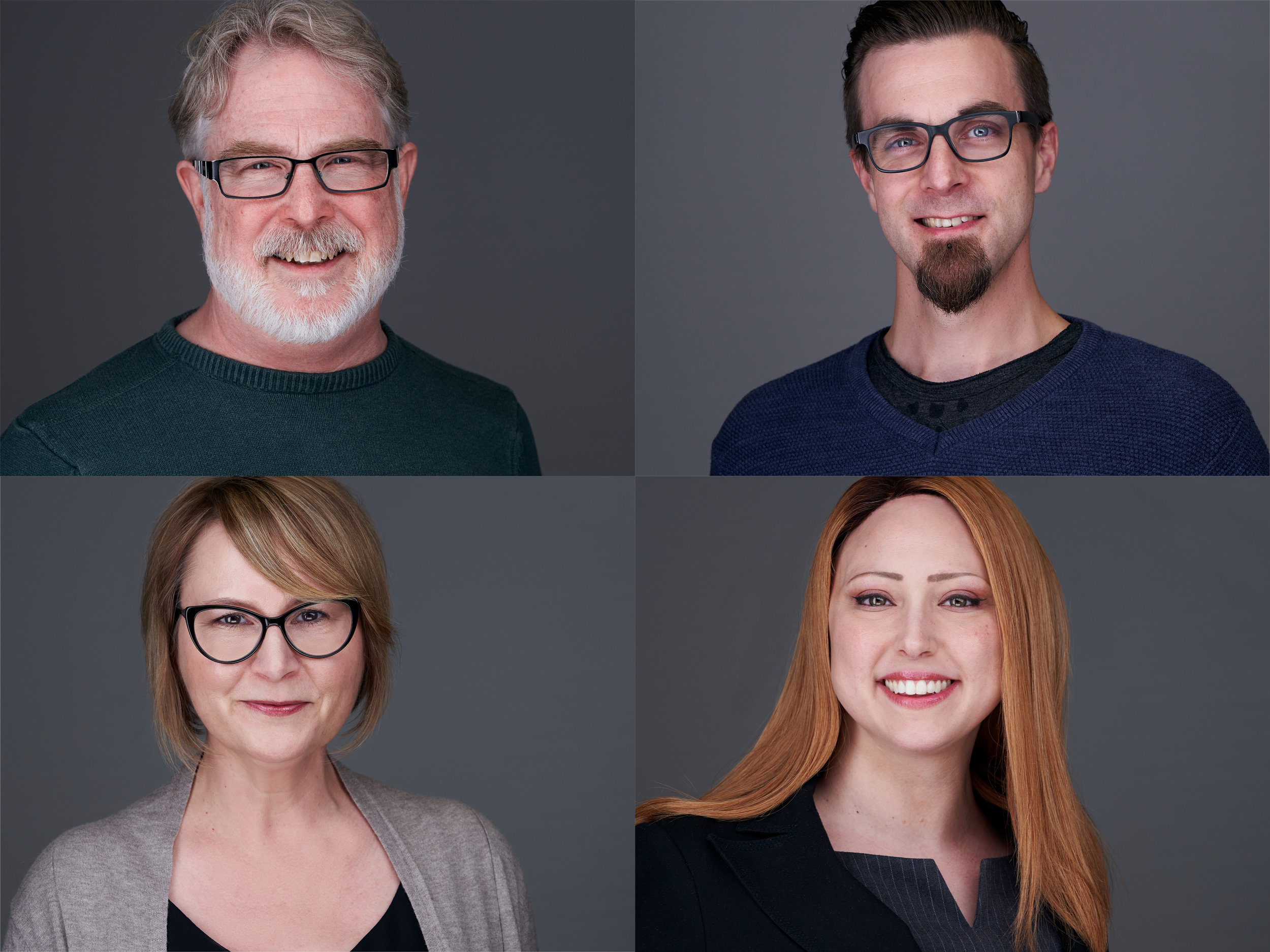 Office headshots on location grid image