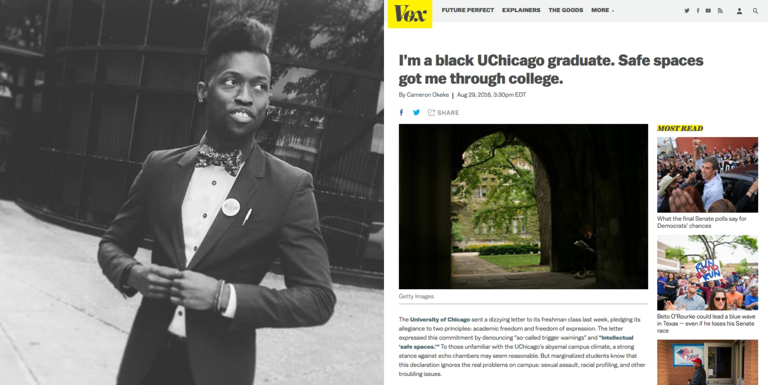 "FREE SPEECH 32: ""Safe Spaces Got Me Through College"" How Universities Can Guarantee Free Speech While Being Inclusive, with Cameron Okeke - With Cameron OkekeREAD MORE"
