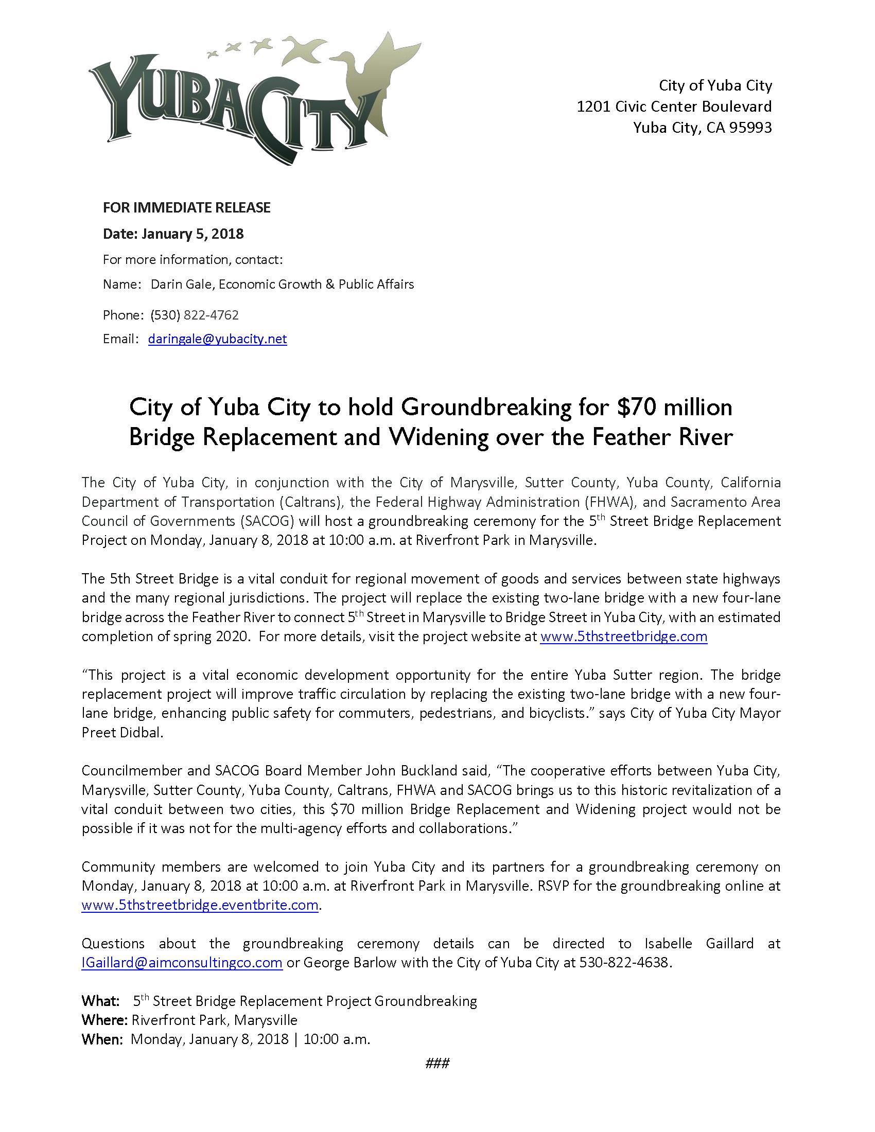 Press Release - 5th St Bridge Groundbreaking 1-5-18.png