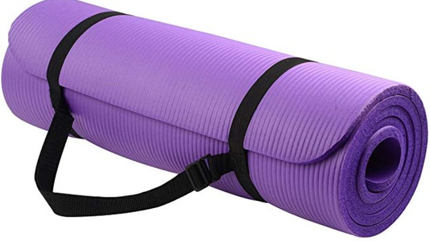 picture of a purple yoga mat