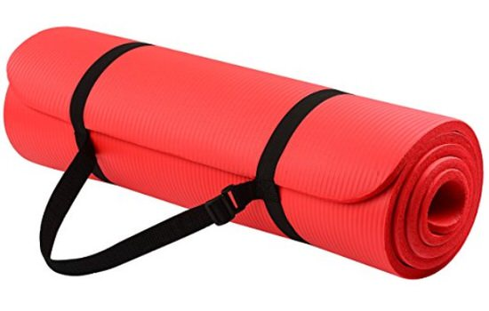picture of a red yoga mat