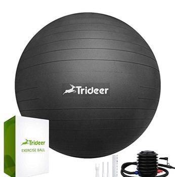 black yoga balance ball