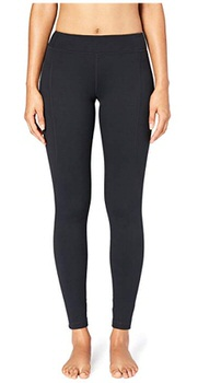 women wearing black yoga pants