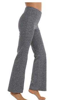 women wearing gray yoga pants