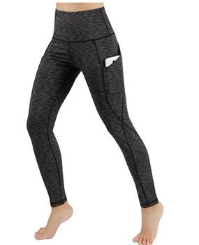 women wearing black and gray yoga pants