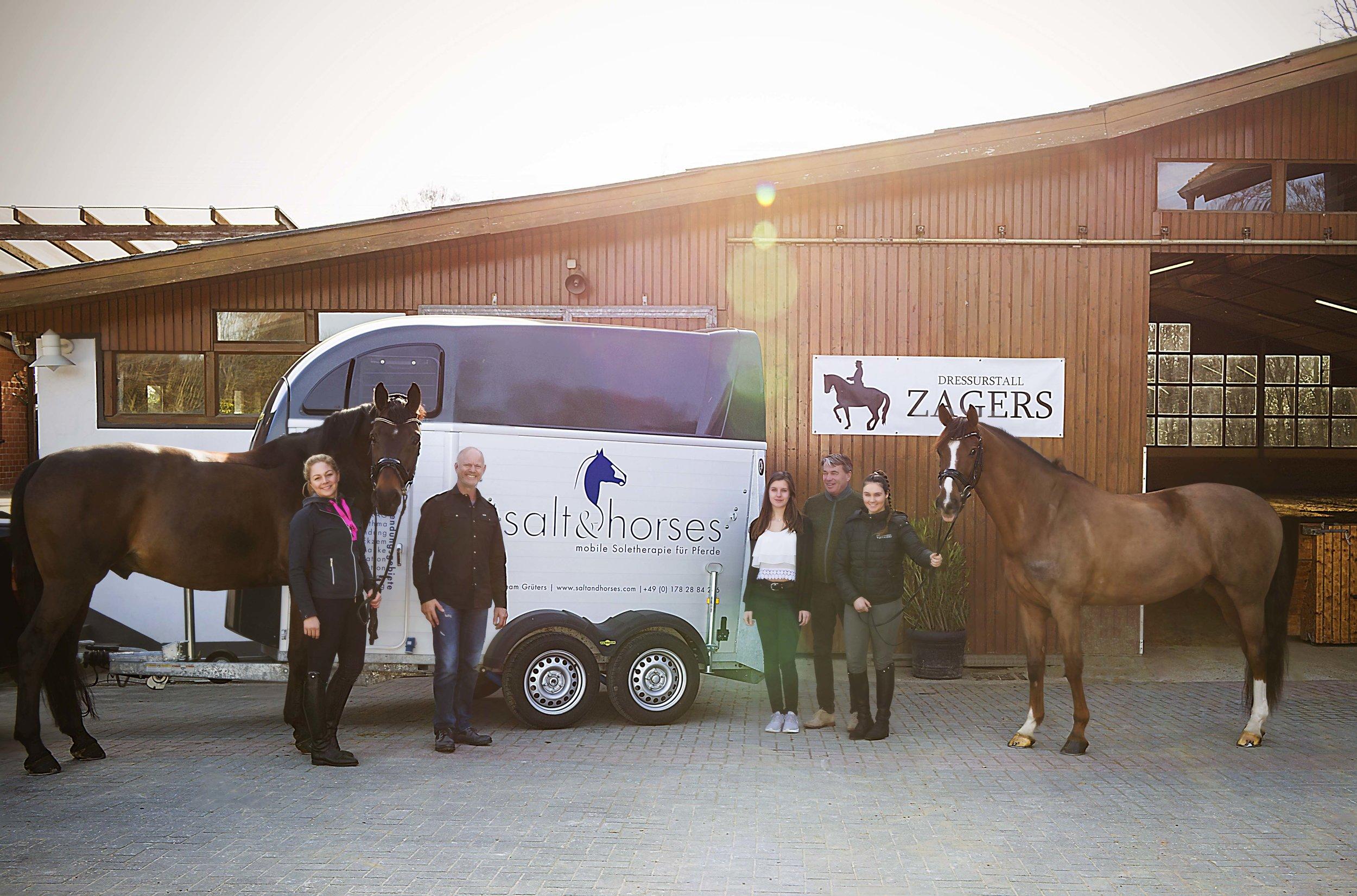 SALT & HORSES bei Dressurtrainer Johan Zagers