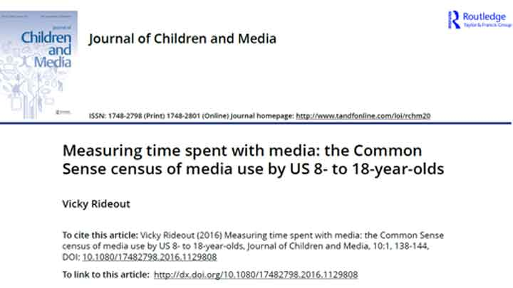 Journal of Children and Media - January 18, 2016Given the variety of activities children can undertake on their phones and tablets, does it make sense to talk about