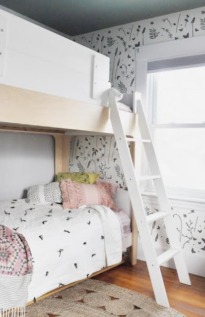 bunk beds in room with wall stencil.jpg