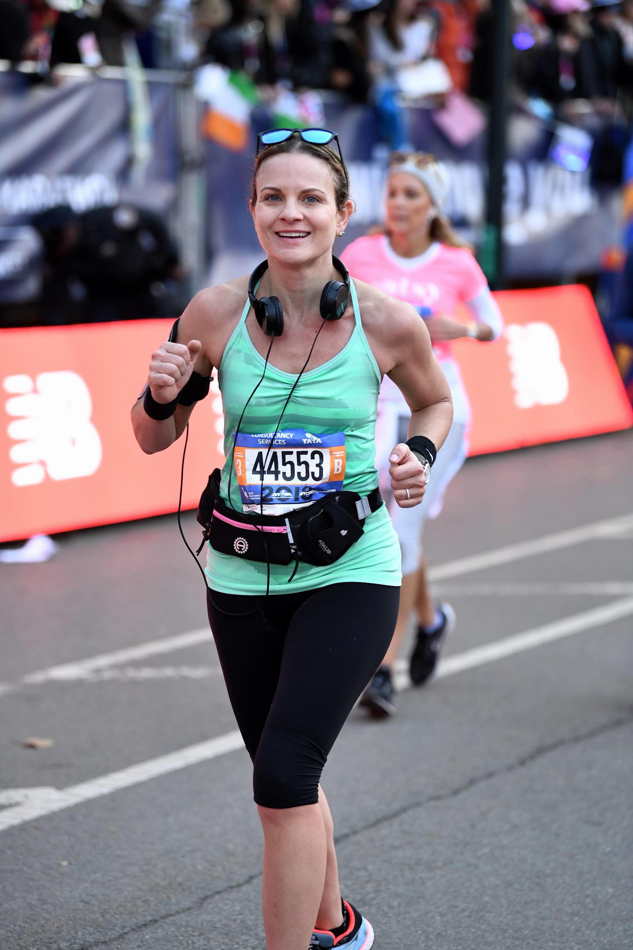 Running in the NYC Marathon, Nov. 4 2018