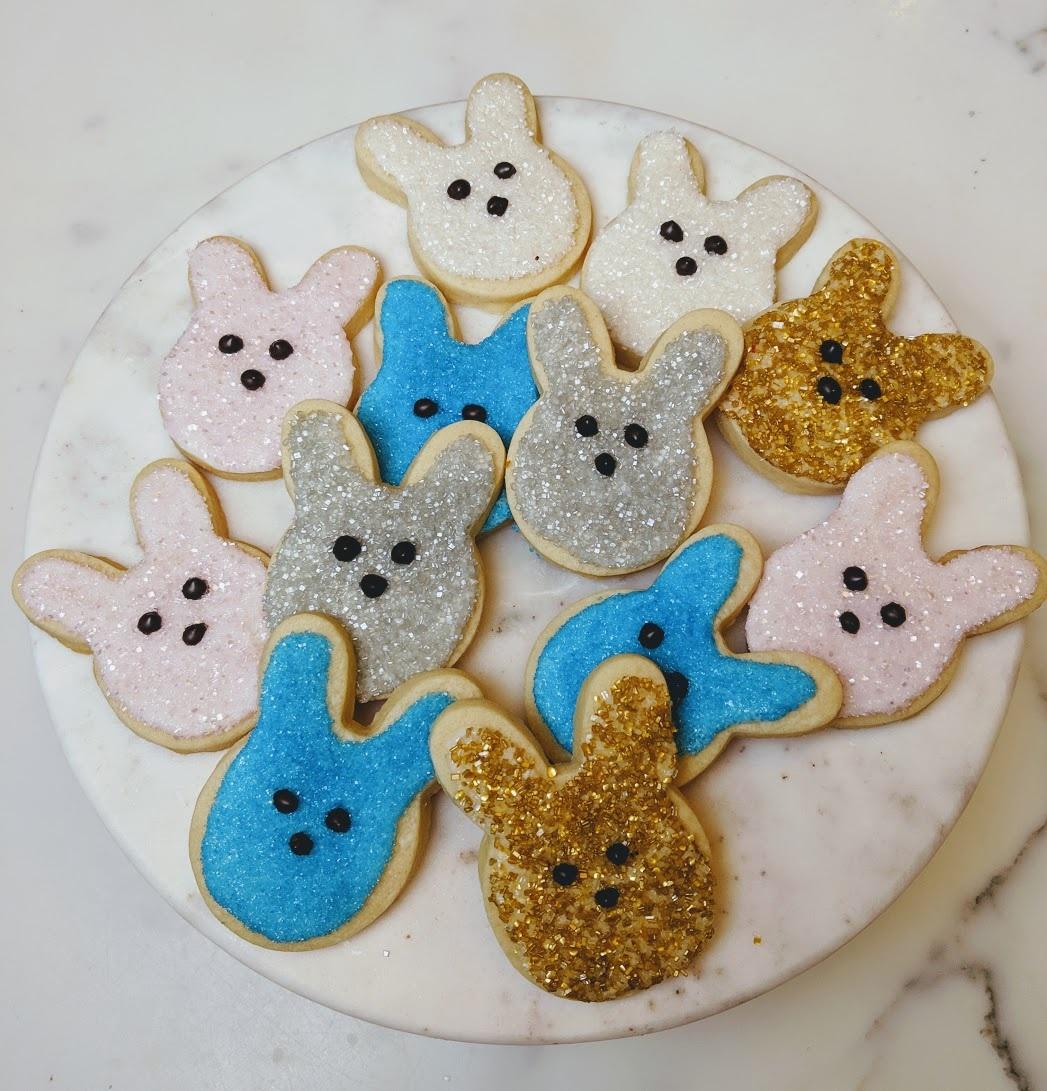 Peeps-Inspired Bunny Cookies