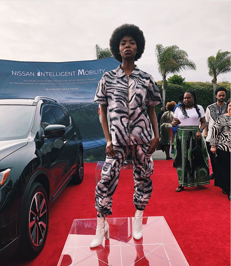 Sheila Rashad at the 2019 Wearable Art Gala with the Nissan Team
