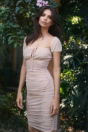 Emily Ratajkowski wearing Nasty Gal x EMARATA