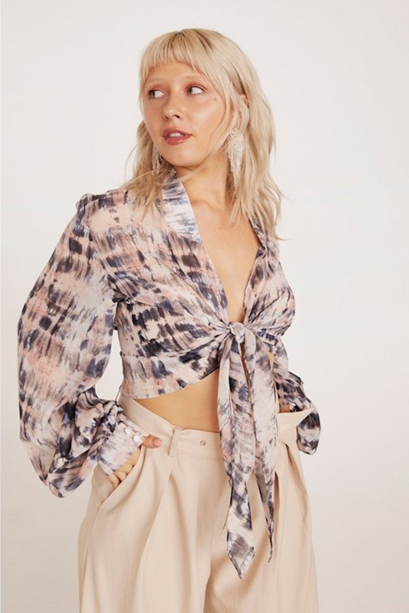 What Do You See Tie Dye Plus Blouse - Was $76Now $38