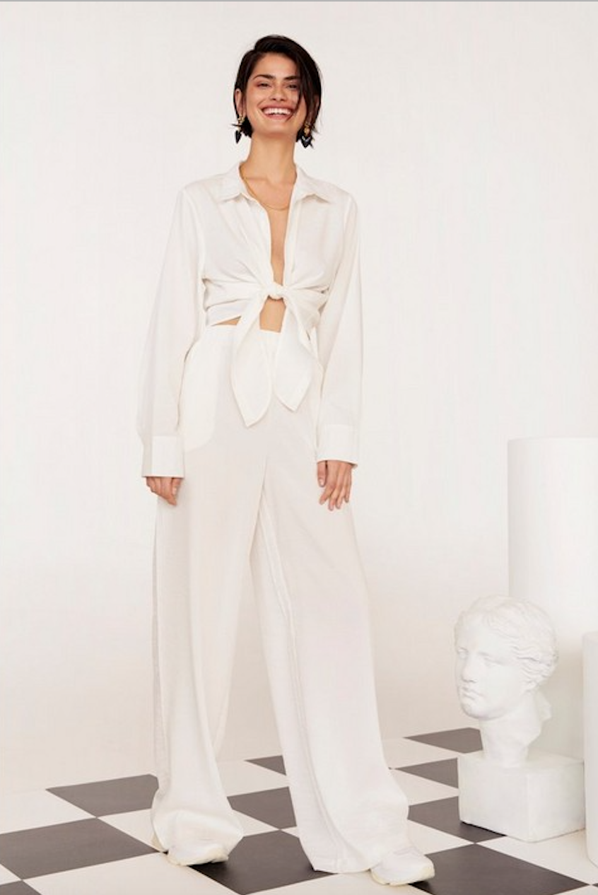 Lookin' Like a Vision Linen Wide-Leg Pants - Was $80Now $40