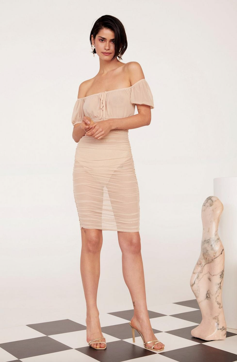 Gather Your Things Mesh Dress - Was $56Now $28