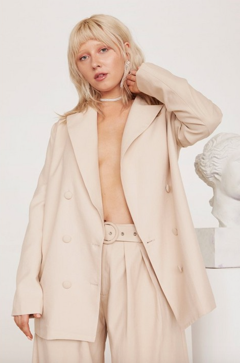 Business As Usual Oversized Plus Blazer - Was $110Now $55