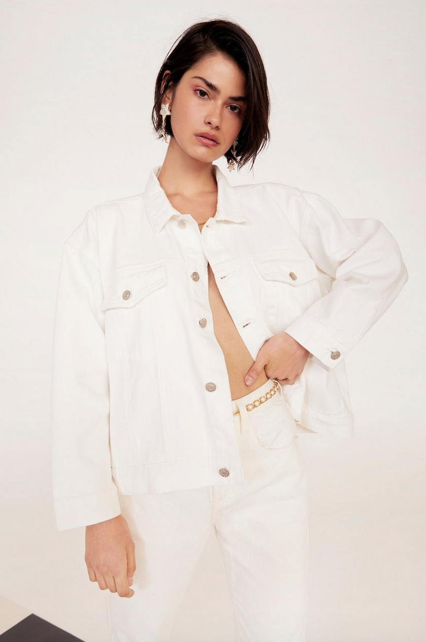 Day Tripper Relaxed Denim Jacket - Was $100Now $50