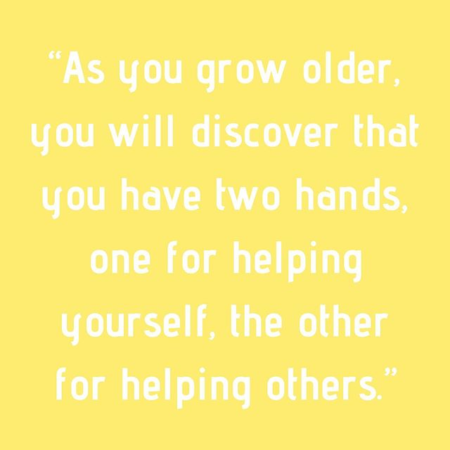 ~ Aubrey Hepburn • • • • #clrflconversations #positivevibes #positivequotes #selflove #selfcare #supportothers #womeninspiringwomen #womenhelpingwomen #motivationalquotes #audreyhepburn