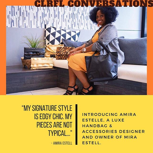 🚨{New conversation up on the site}🚨 @amiraestell designs timeless handbags and accessories that will have you feeling glamorous and looking effortlessly cool  @miraestell. Click the 🔗in bio for more about the designer's journey to owning her own luxury brand and to view her gorgeous pieces. • • • • • #clrflconversations #womenbrand #womanowned #womenartists #womenempowerment #womensupportwomen #supportwomenownedbusinesses #fashiondesigner #womencreatives #womendesigners #handbags #handbagdesigner #accessoriesdesigner #diversityandinclusion #lifestyle #selfcare #womenentrepreneurs