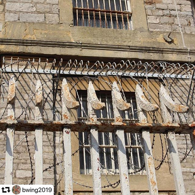 #repost @bwing2019 ・・・ #Repost @fionacampbellartist ****** Had a fantastic day visiting Shepton Mallet Prison with @bwing2019 artists @luminarastar_artist @lucylargeart @geoffdunlop.kailash @loubakerartist @scottsandfordart & #rosiejackson. Thank you @sheptonprison for the grand tour and Ian Keys for the pot history of Shepton in context. Such incredible stories, symbolism and visual inspiration for our planned art project.  #timeinside #partnersincrime #artsinprisons #artininterestingspaces #research #artists #artproject #bwing #multidisciplinary #sheptonmallet #history #prison #incarceration #grids #windows #light #barred #curator #art