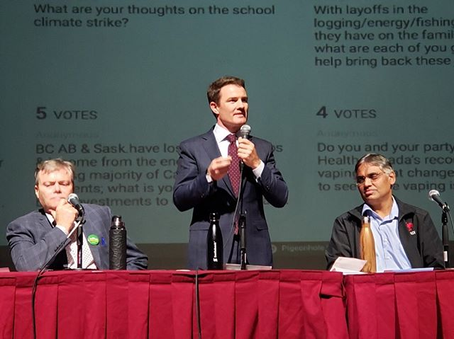 Thanks to everyone who came down to the beautiful Lester Centre of the Arts in Prince Rupert this evening for our sixth all-candidates debate. I was pleased to share my views on protecting wild salmon, defending our coast and making life more affordable.