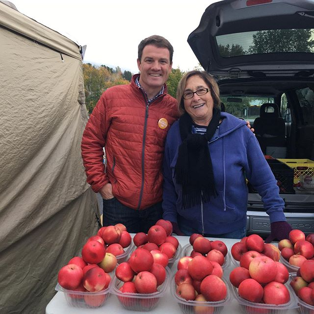 I ran into Maria this morning at the Skeena Valley Farmers' Market. She just became a citizen after 56 years in Canada and is looking forward to voting for the very first time. Congratulations, Maria! Happy voting!