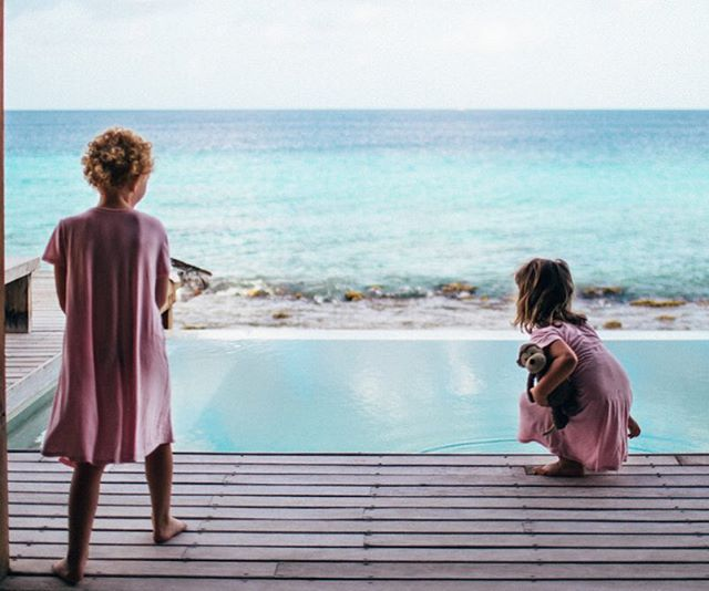 "Ruby keeps asking me when we are moving into our house in Bonaire...instead of telling her ""we never owned it, it was just a vacation."" I just tell her ""5 years"" #wishfulthinking"