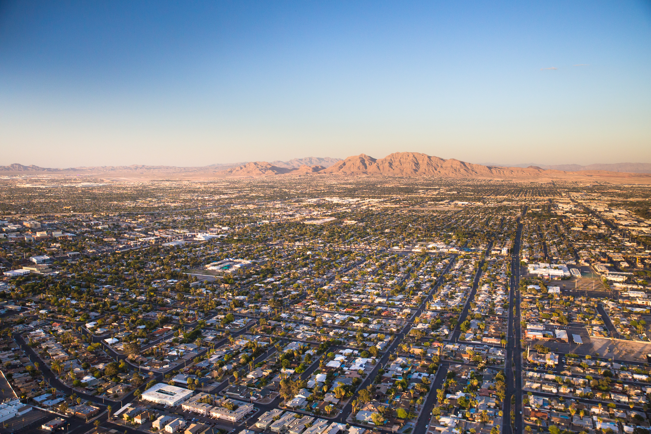 Las Vegas development stretching to horizon. Photo by: iStock/littleny