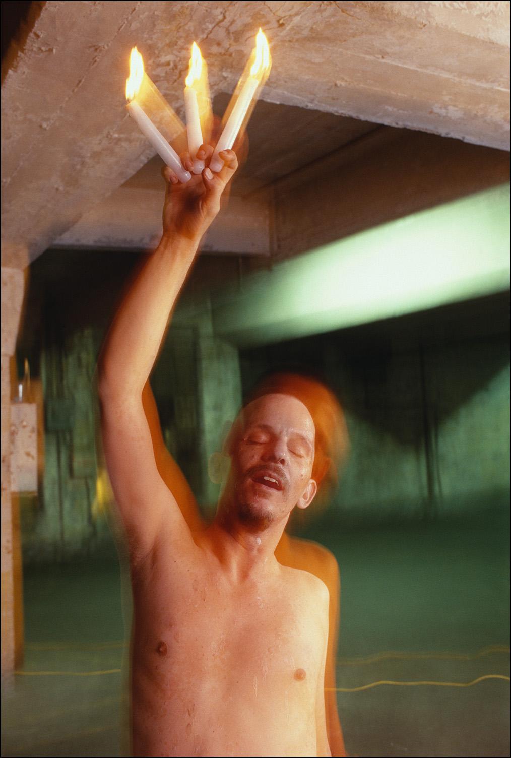 Ed at the Playhouse Garage, 2000
