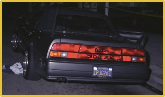 Jade Clark's Nissan 300ZX (rear)