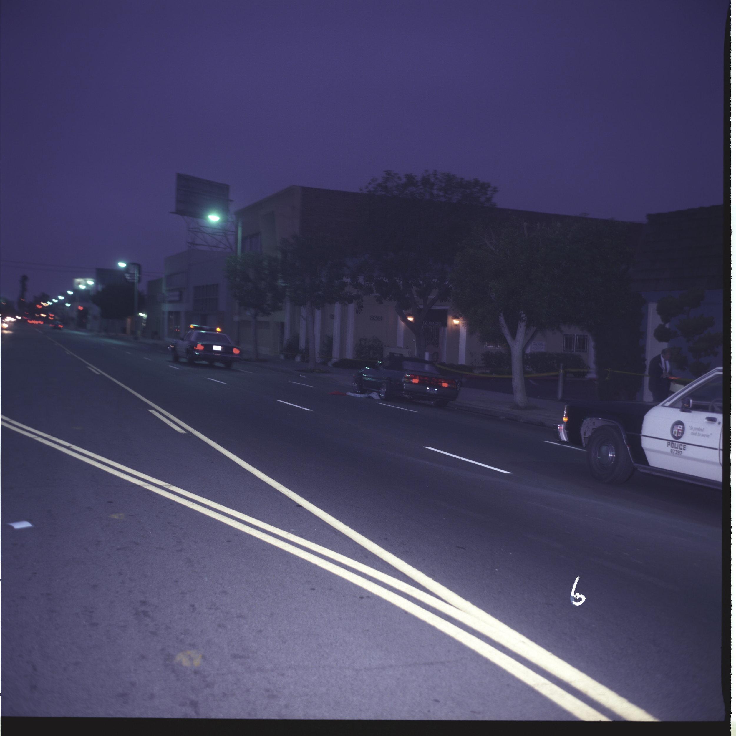 The crime scene on Highland Avenue