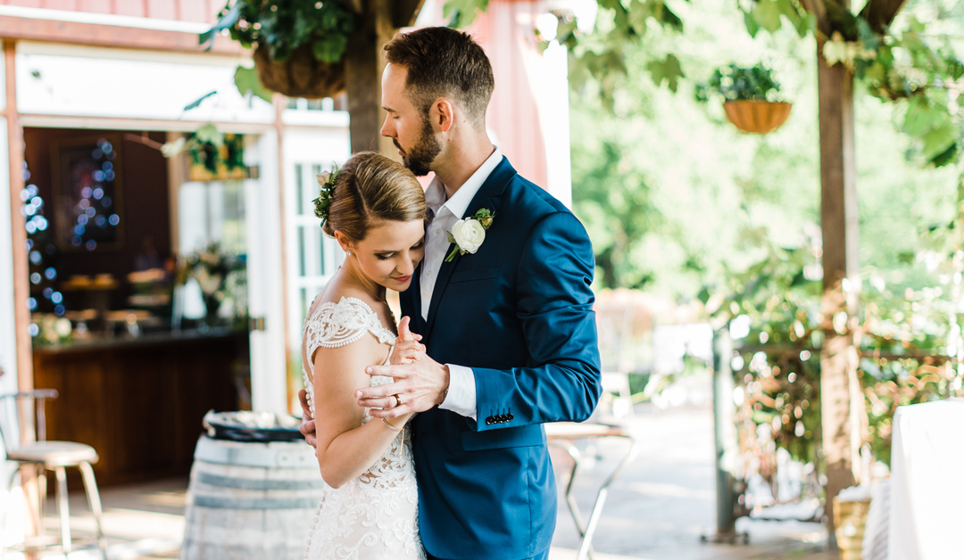 We didn't need to compete with this incredible gown! Jordan wanted plenty of texture in her bouquet, while maintaining an overall, muted tone. We incorporated local elements, including Love-in-A-Mist Nigella, and a variety of herbs, giving the bouquet a sweet and sensory aroma. #floraldesign #weddingflorals #weddingflowers #virginiawedding #virginiabride #virginiaflorist