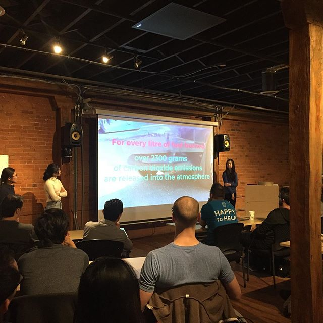 Great pitch tonight from the OSA Olympians, sharing their app SwitchOff, which aims to reduce car idling. Thank you to the Edmonton Mobile App meetup and @startupedmonton for hosting! #technovation #yeg #girlsforachange #yegwomen #tech