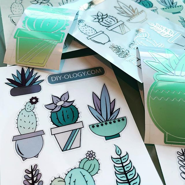 Tomorrow starts the 10-day countdown until the official launch of diy-ology.com. Where you'll be able to download the #svg #png and #cutfile for these images. These #succulents #stickers and #vinyl #decal are heading out to Colorado waiting for new homes. (more info on that coming too). I've been using these for my #bulletjournal #weeklyspread and placing the decals on my phone and laptop cases. Follow for updates on the launch! #planneraddict #plannerstickers #plannercommunity #diy #craft #cricut #sillouettecameo #adobeillustrator