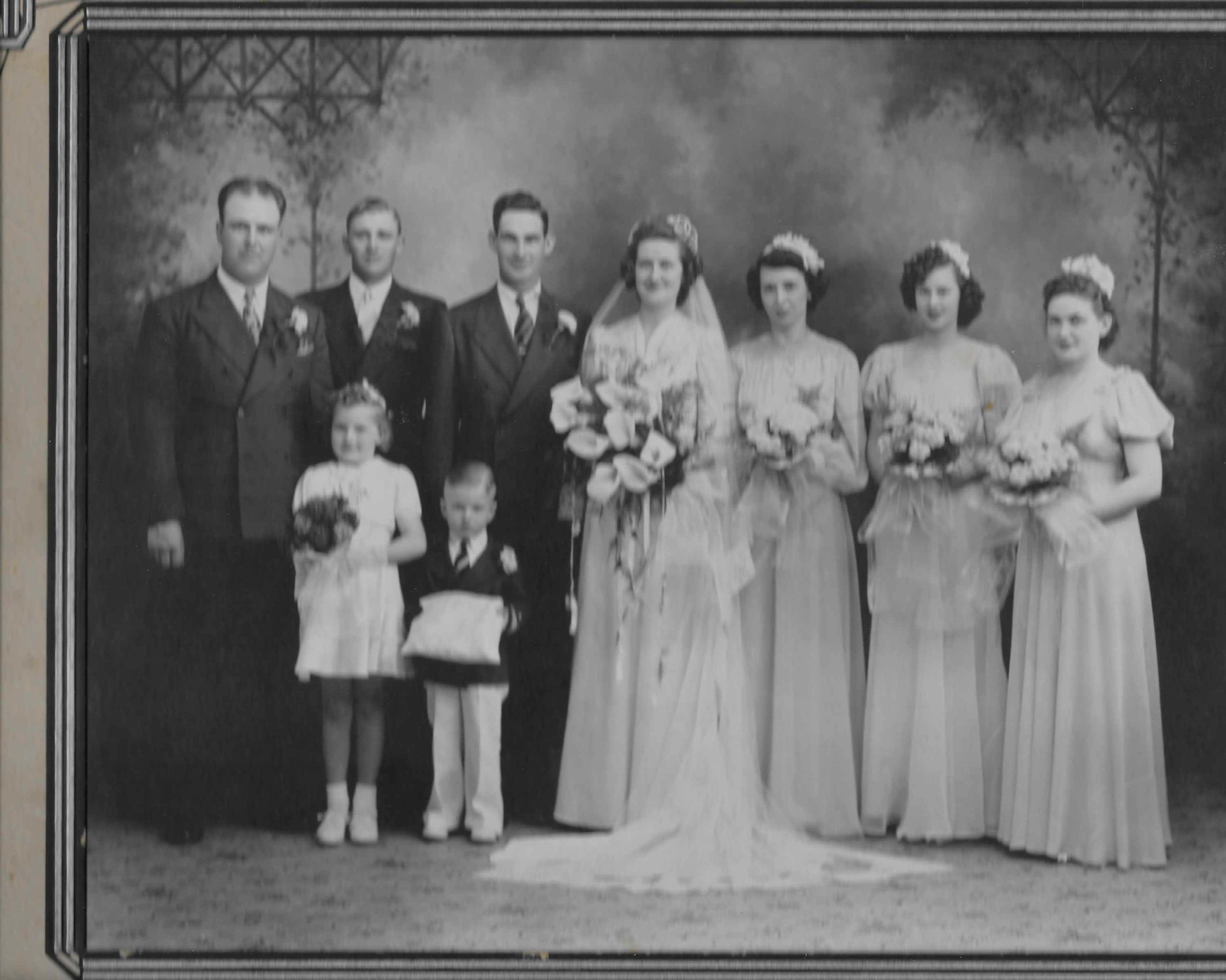 Grandma's wedding (1941). Not a chicken feather in site!