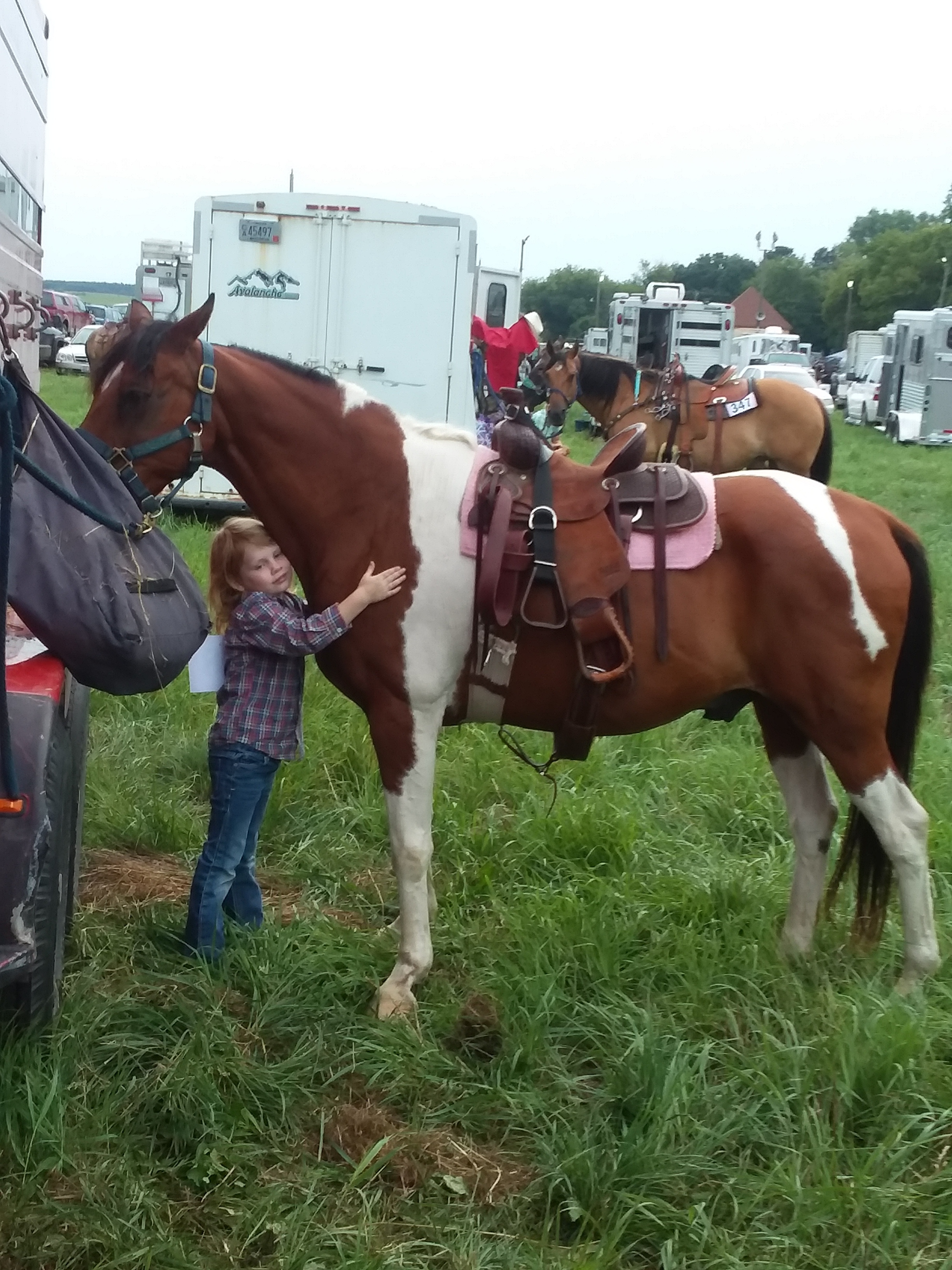 This is my daughter and her pony, Jack. He's not a Shetland Pony. But we love him anyway.