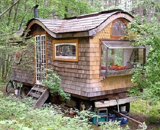 Who doesn't really want to live in a fairy house in the woods? I know I do.