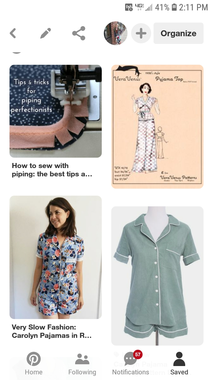 Based on my pinterest board, I want piping in my pajamas. I bet there are some other themes too though.