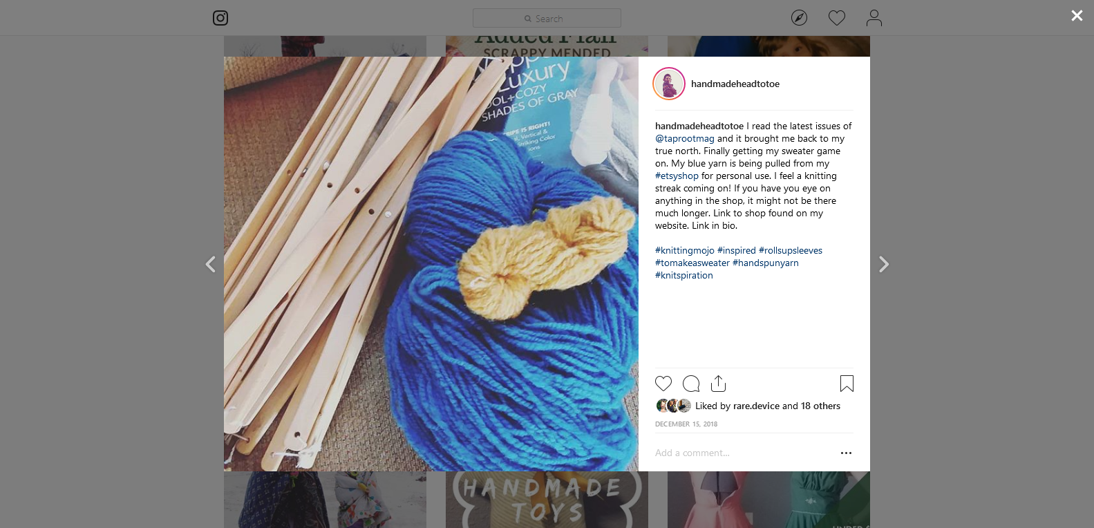 If you follow me on Instagram, you've seen this yarn before. Here's my onion dyed mini-skein with it. The color matches pretty closely to what I actually used.