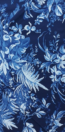 Blue Flowers Navy Background 27 50 Nzd Quilters Quarters