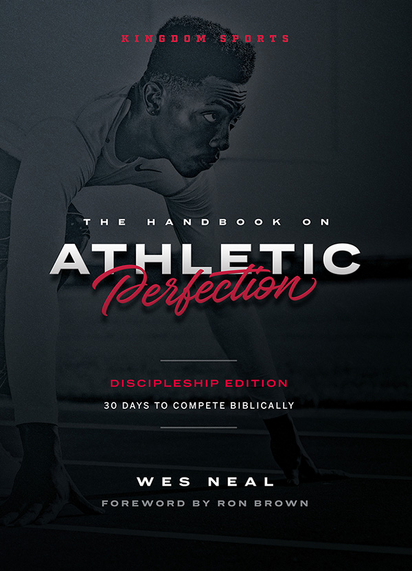 Handbook on Athletic Perfection Discipleship EditioN - The Handbook on Athletic Perfection Discipleship Edition will show you how to have the right attitudes and behavior in competition to glorify God in sports. Wes Neal introduces biblical principles into athletics. This is an excellent training resource that teaches the integration of one's Christian beliefs with participation in sports. Every athlete has an opportunity to think God's thoughts and play His way. This study will help you take the next steps toward a great new athletic experience! The Handbook is a classic on how a Chrisitan should compete. This discipleship edition includes the 30-day Cross Training Workout plan in an 8.5 x 11 spiral-bound illustrated workbook.