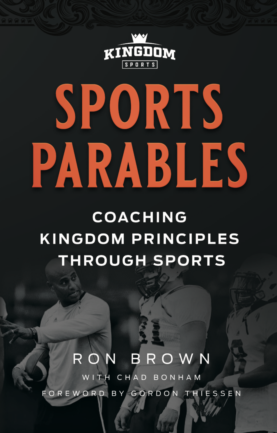 Sports Parables: Coaching Kingdom Principles Through Sports - Sports Parables: Coaching Kingdom Principles Through Sports is part of the Kingdom Sports series of bible studies and training resources for Christian coaches and athletes.Throughout the New Testament gospels, some of Jesus' most effective teachings were presented through the vehicle of parables—fictional stories that utilized relevant scenarios based on the current day and age.In Sports Parables, Coach Ron Brown shares powerful modern-day analogies to help athletes, coaches, parents, and ministers deliver biblical truths from the practice field to the pulpit. Topics include fear, motivation, focus, unity, salvation, discipleship, evangelism, determination, deception, and spiritual hunger.Click the image to purchase