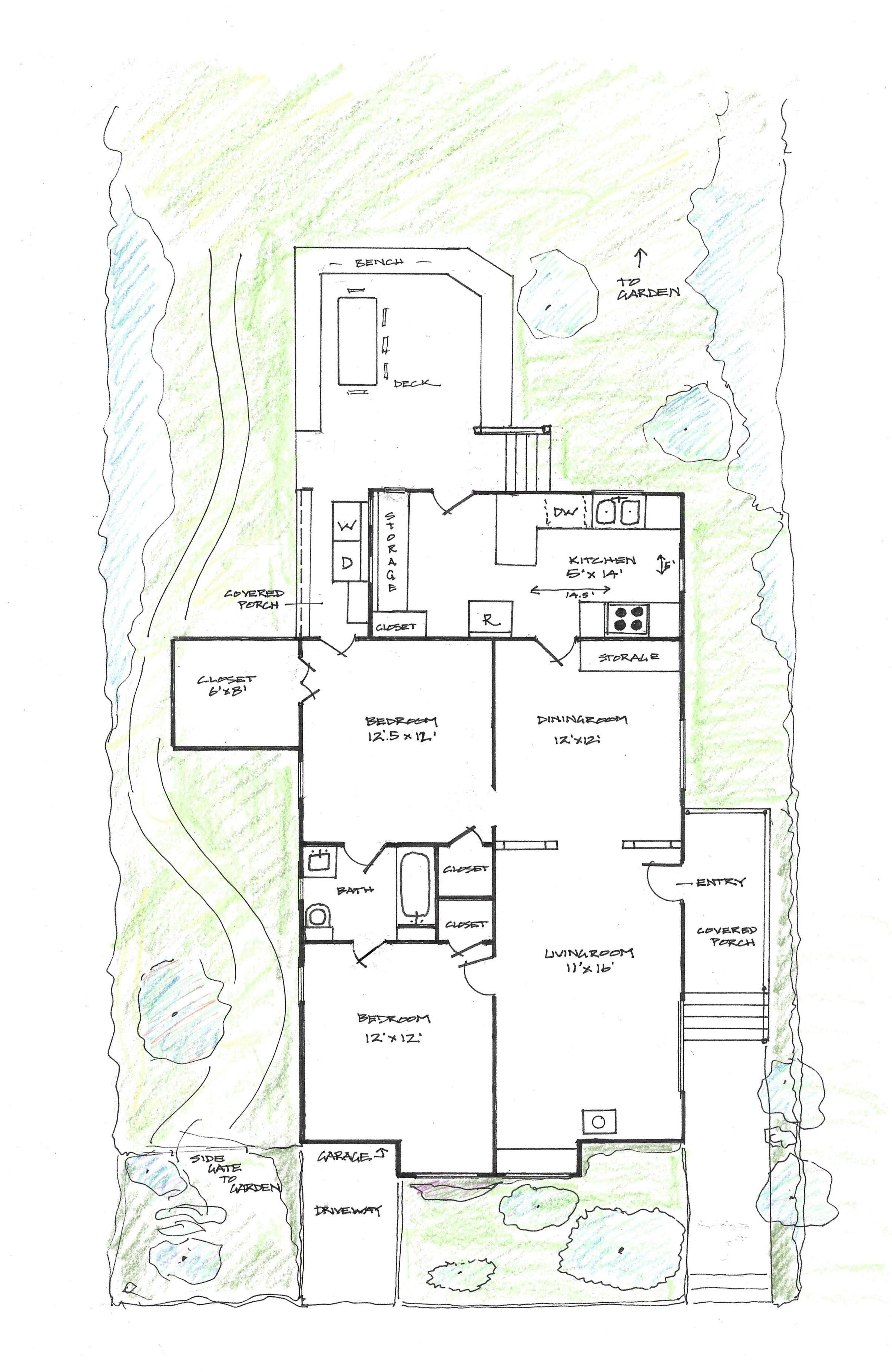 Floor Plan Little Berkeley House