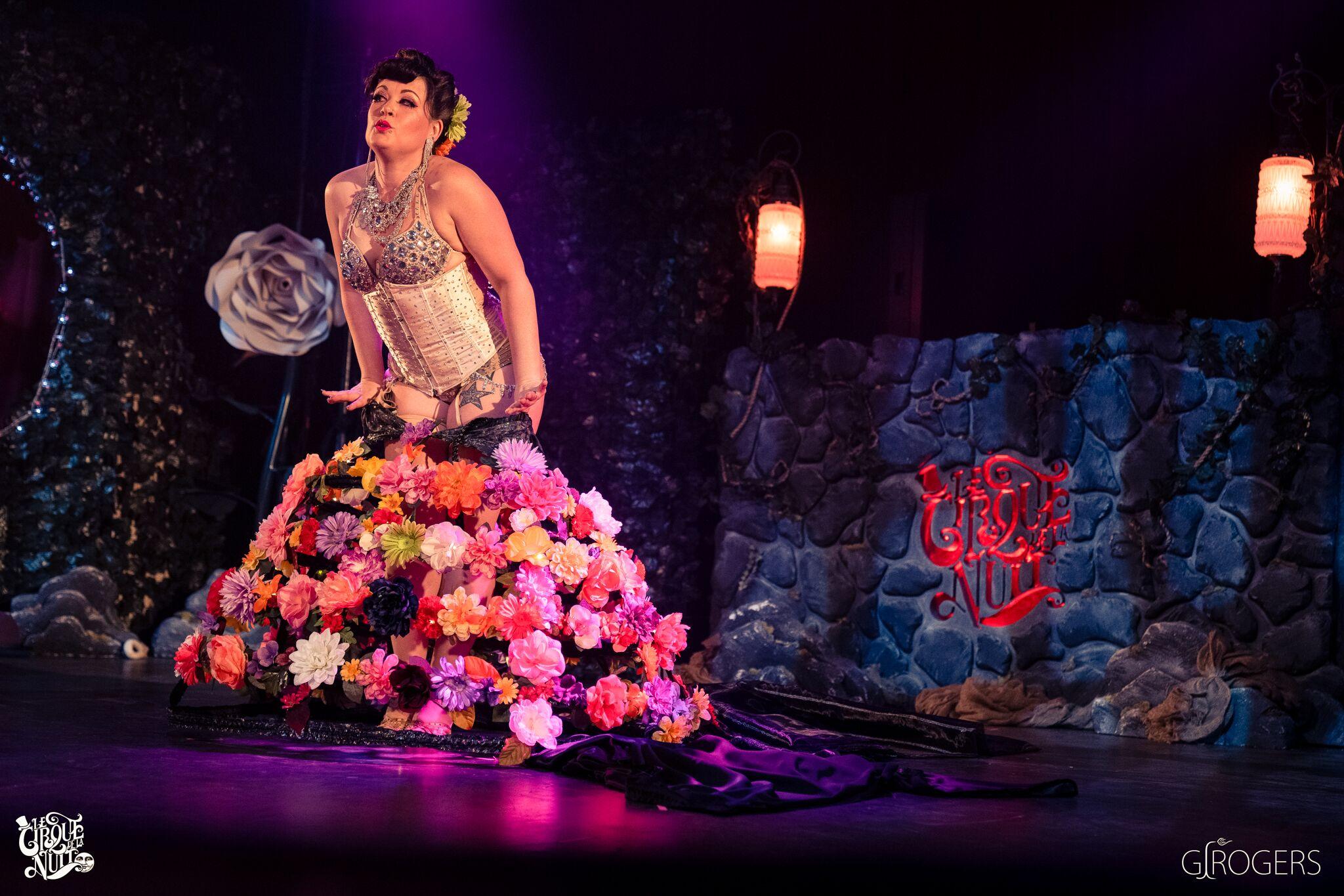 Daisy performing at  Le Cirque De La Nuit  in April, 2019.