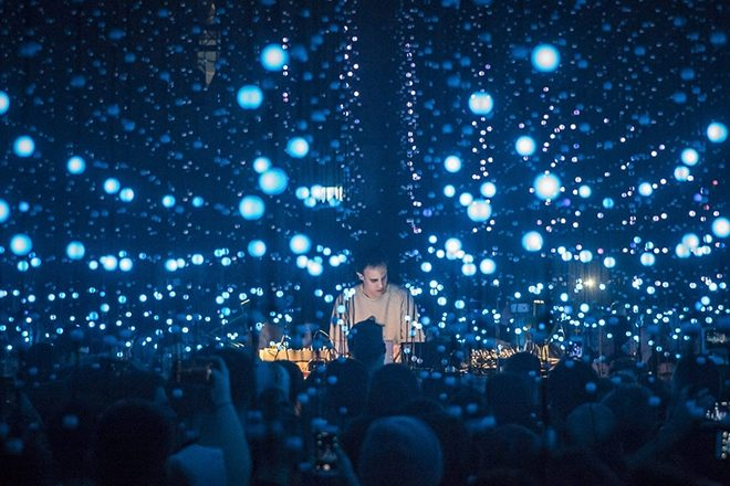 Four Tet playing live